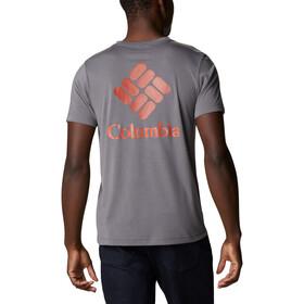 Columbia Maxtrail SS Logo Tee Men, city grey stacked